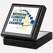 Michigan Cornhole State Champ Keepsake Box