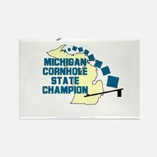 Michigan Cornhole State Champ Rectangle Magnet