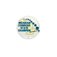 Michigan Cornhole State Champ Mini Button