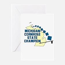Michigan Cornhole State Champ Greeting Cards (Pk o
