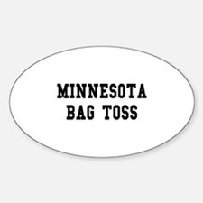 Minnesota Bag Toss Oval Decal