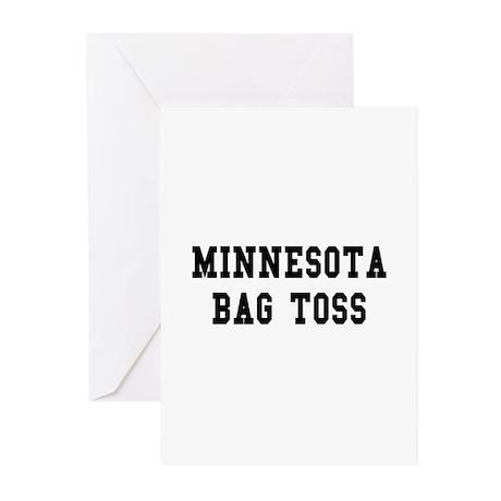 Minnesota Bag Toss Greeting Cards (Pk of 10)