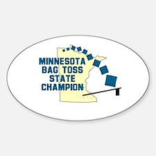 Minnesota Bag Toss State Cham Oval Decal