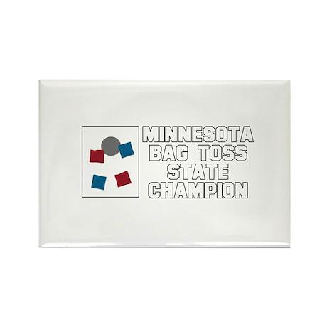 Minnesota Bag Toss State Cham Rectangle Magnet (10