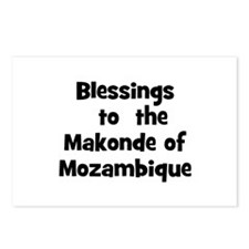 Blessings  to  the  Makonde o Postcards (Package o