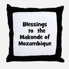 Blessings  to  the  Makonde o Throw Pillow