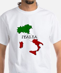Italy Flag Map Shirt