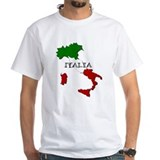 Italy Mens White T-shirts