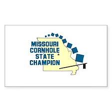 Missouri Cornhole State Champ Sticker (Rectangular