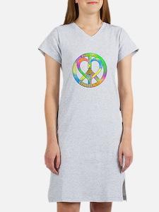 Peace Love Christmas Women's Nightshirt