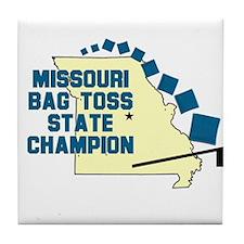 Missouri Bag Toss State Champ Tile Coaster
