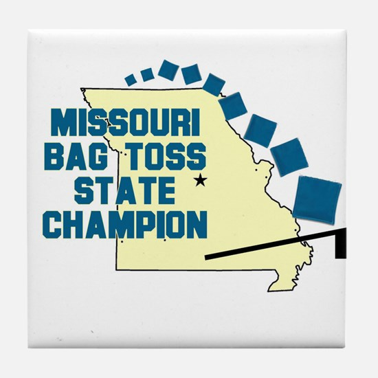 Missouri Bag Toss State Champ Tile Coaster