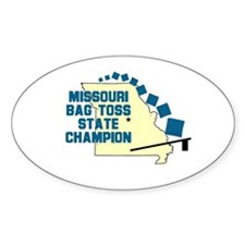Missouri Bag Toss State Champ Oval Decal