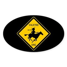 Valkyrie Crossing Oval Decal