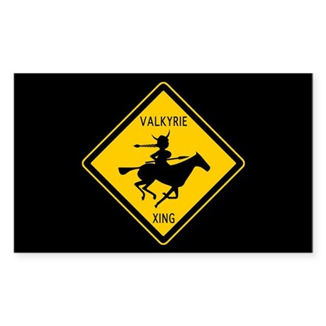 Valkyrie Crossing Rectangle Sticker