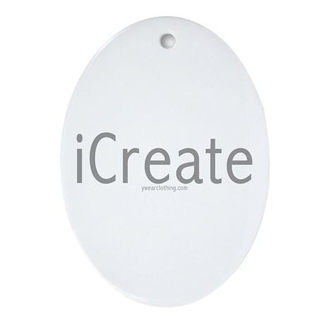 iCreate Oval Ornament