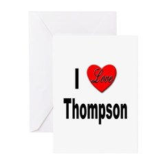 I Love Thompson Greeting Cards (Pk of 10)
