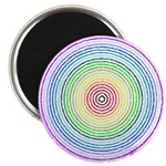 "Rainbow Kaleidoscope 2.25"" Magnet (100 pack)"