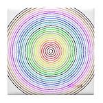 Rainbow Kaleidoscope Tile Coaster