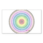 Rainbow Kaleidoscope Rectangle Sticker