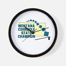 Montana Cornhole State Champi Wall Clock