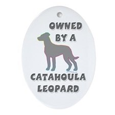 Catahoula Pewter Oval Ornament