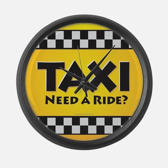 Taxi Large Wall Clock