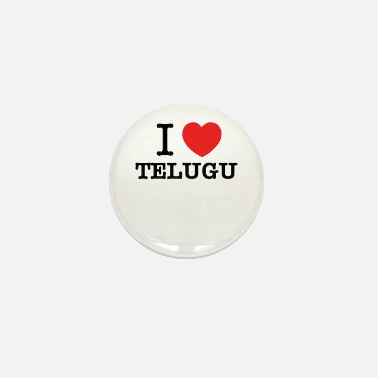 I Love TELUGU Mini Button