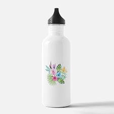 Watercolor Tropical Bo Water Bottle
