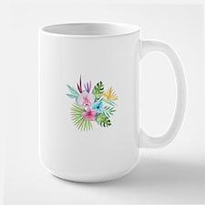 Watercolor Tropical Bouquet 3 Mugs