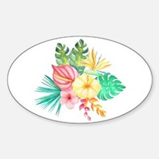 Watercolor Tropical Bouquet 6 Decal