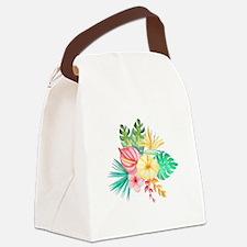 Watercolor Tropical Bouquet 6 Canvas Lunch Bag