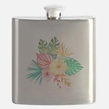 Watercolor Tropical Bouquet 6 Flask