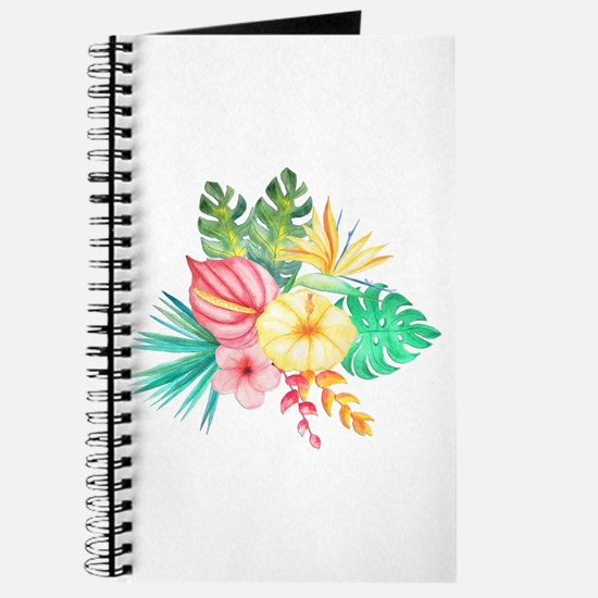 Watercolor Tropical Bouquet 6 Journal