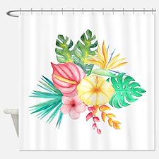 Watercolor Tropical Bouquet 6 Shower Curtain