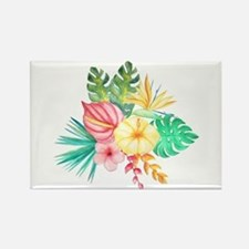 Watercolor Tropical Bouquet 6 Magnets
