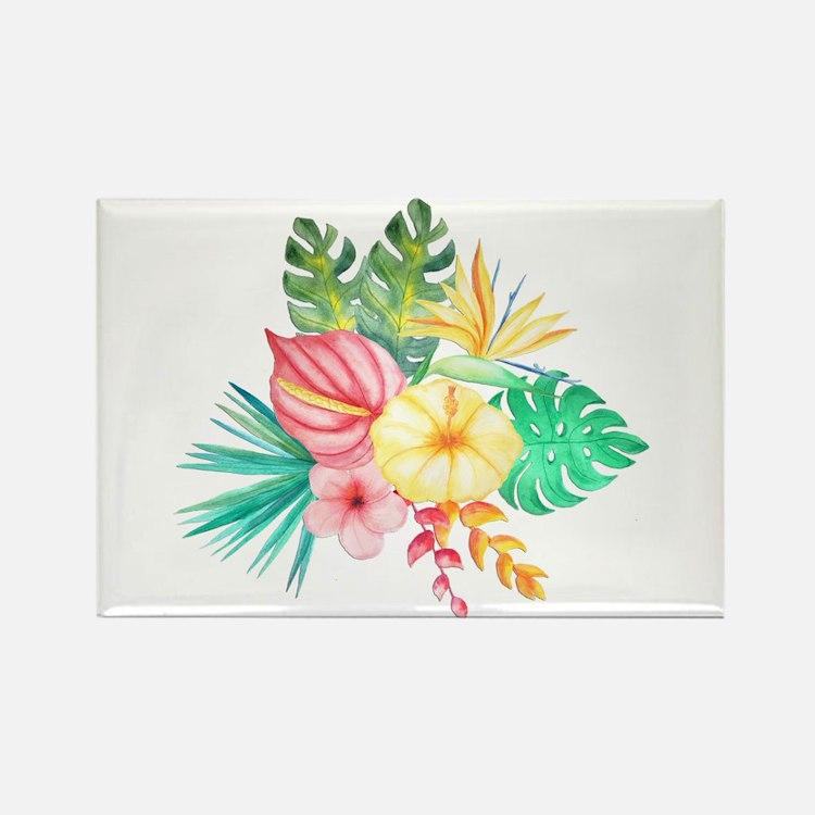 Watercolor Tropical Bouquet 6 Magnets
