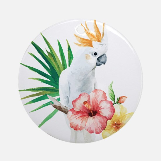 Tropical Cockatoo Round Ornament