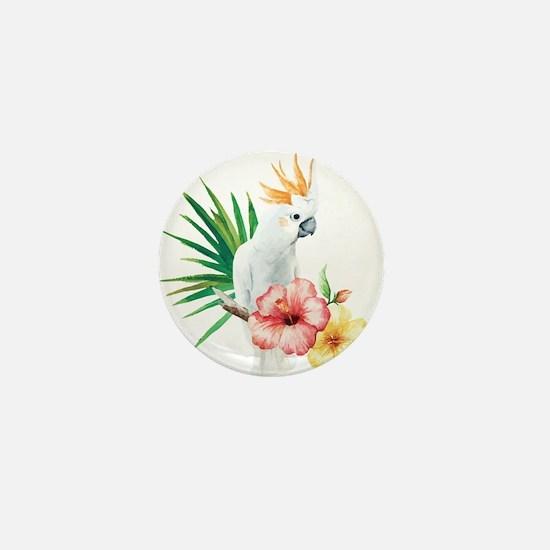Tropical Cockatoo Mini Button