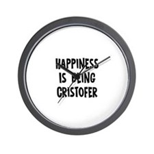 Happiness is being Cristofer Wall Clock