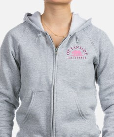Oceanside - California. Women's Zip Hoodie
