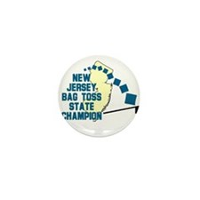 New Jersey Bag Toss State Cha Mini Button