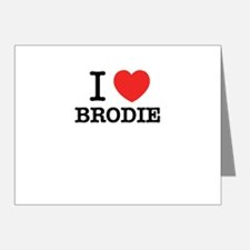 I Love BRODIE Note Cards