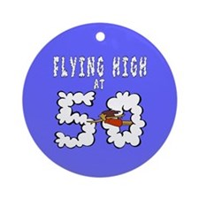 Flying High at 50 Ornament (Round)