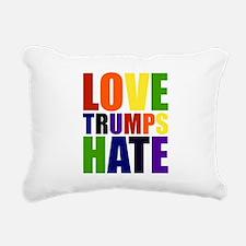 Love Trumps Hate Rectangular Canvas Pillow