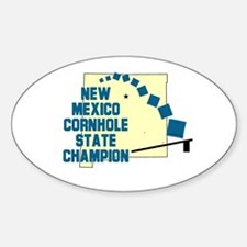 New Mexico Cornhole State Cha Oval Decal