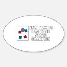 New Mexico Bag Toss State Cha Oval Decal