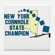 New York Cornhole State Champ Tile Coaster