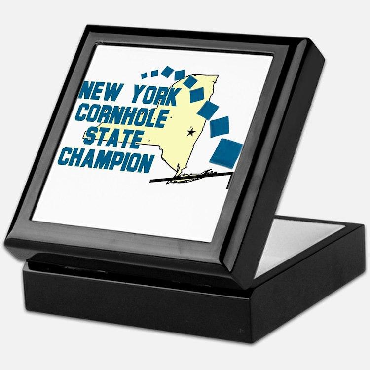 New York Cornhole State Champ Keepsake Box