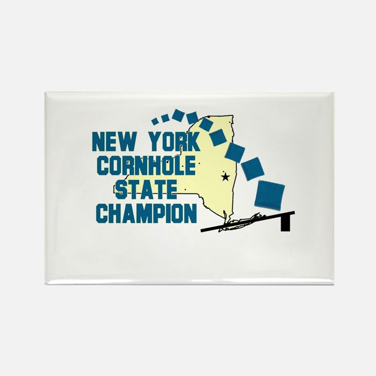 New York Cornhole State Champ Rectangle Magnet